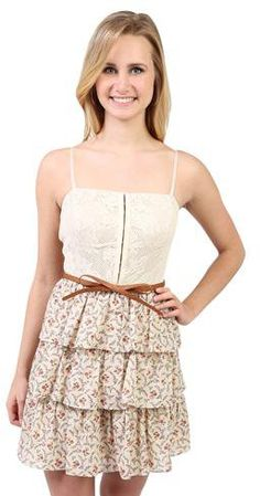 #Deb Shops                #Skirt                    #hook #bodice #casual #dress #with #ditsy #tiered #skirt #belt #1000045351 #debshops.com                hook and eye bodice casual dress with ditsy tiered skirt and bow belt - 1000045351 - debshops.com                                 http://www.seapai.com/product.aspx?PID=1870338
