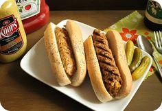 Homemade Vegan Sausages. Recipe from http://veganmotherhubbard.com/2013/06/homemade-vegan-sausages.html.