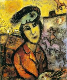 Marc Chagall - Artist at his Easel
