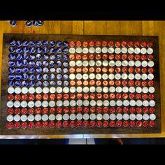 Hand made bottle cap American flag.
