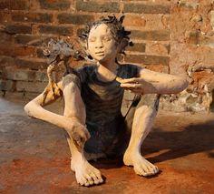 Artist Study with thanks to Fanny Ferré, sculpteur, Sculptor,Art Student Resources for CAPI ::: Create Art Portfolio Ideas @ milliande.com, Art School Portfolio Work, Sculpture, Assemblage, Clay, Form