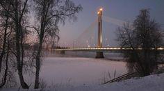 Rovaniemellä Lapin talvi.