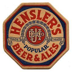 Hensler's Popular Beer & Ales | Flickr - Photo Sharing! Label Design, Design Packaging, Package Design, Design Design, Graphic Design, Sous Bock, Popular Beers, Beer Store, American Beer