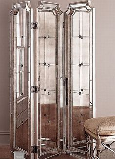Best Old Hollywood Glamour Bedroom Interior Design Ideas Studio Apartment Room Divider, Hollywood Glamour Bedroom, Old Hollywood Decor, Hollywood Furniture, Hollywood Room, Hollywood Style, Hollywood Regency, Hollywood Actresses, Mirror Room Divider
