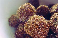 HORČÍKOVÉ GUĽKY (čierny sezam, biely sezam, chia, ľan, mandle, datle, karob / kakao, kokosová múka)
