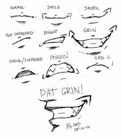How to EASY draw mouth expressions: