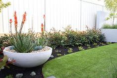 Golden Bay - LD TOTAL | Feature Pot | Backyard | Garden Design | Outdoor Living | Australian Backyard | Artificial Turf | Artificial Lawn | Concrete Pot | Landscape Design