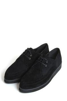 Flo Black Suedette Creeper Shoe