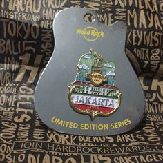 Hard Rock Pin Jakarta Indonesia Limited Edition Series 2015 Icon City Series