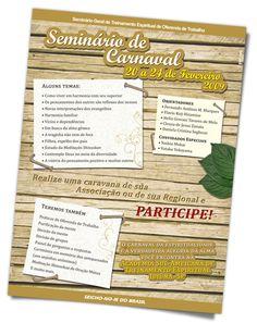 ANÚNCIO Seminário de Carnaval    Seicho-No-Ie do Brasil    Agência Graphitaria    2008 • Londrina/PR