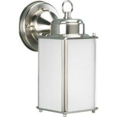 Roman Coach Collection Brushed Nickel 1-light Wall Lantern-P5985-09STR at The Home Depot