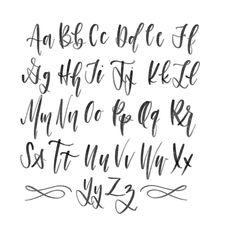 Modern Calligraphy Alphabet