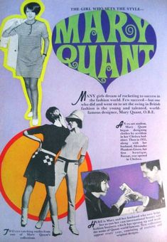 these are a few of my favourite things — adandyinaspic: Mary Quant ad from 60s And 70s Fashion, Mod Fashion, Vintage Fashion, Gothic Fashion, Fashion Ideas, Fashion Design, Mary Quant, Midcentury Modern, Moda Retro