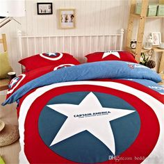 marvel avengers bedding cotton captain america duvet set sports bedding for boys comforter sets sale