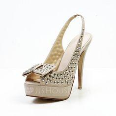 Sandals+-+$85.99+-+Real+Leather+Stiletto+Heel+Peep+Toe+Platform+Slingbacks+Sandals+With+Bowknot+Rivet+(087029129)+http://jjshouse.com/Real-Leather-Stiletto-Heel-Peep-Toe-Platform-Slingbacks-Sandals-With-Bowknot-Rivet-087029129-g29129/?utm_source=crtrem&utm_campaign=crtrem_US_28011