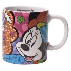 Disney by International Artist Romero Britto for Enesco Minnie Mouse Mug 4.25 IN