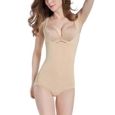 97a374c0460d8 UMAC Womens Open Bust Bodysuit Seamless Body Shaper Tummy Control Shapewear     To view further for this item