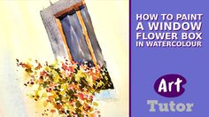 How to Paint a Window Flower Box in Watercolour