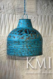 """industrialna lampa  """"Loft Colors"""" M-2715 niebieska"""