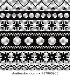 Knitted abstract seamless pattern Sie Grafikmuster Stock Photo and Image Portfolio by Gala titmouse Stitch Patterns, Knitting Patterns, Crochet Patterns, Punto Fair Isle, Fair Isle Chart, Clouds Pattern, Bead Sewing, Fair Isles, Knit Patterns