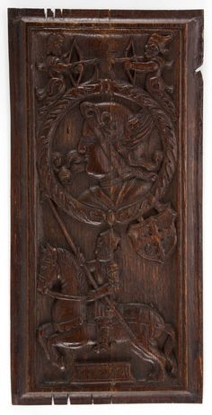 A CONTINENTAL CARVED WOOD ARCHITECTURAL PANEL  18th century
