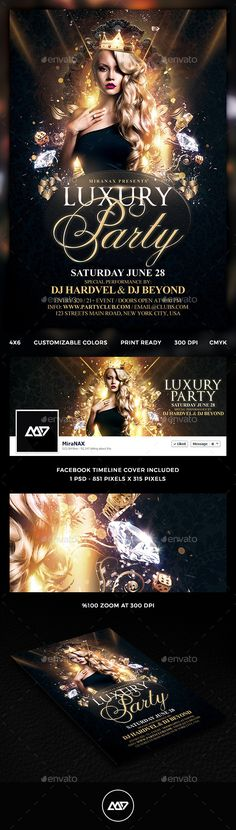 Luxury Nights Party Flyer Template PSD #flyer Download: http://graphicriver.net/item/luxury-nights-party-flyer-template-psd/11421790?ref=ksioks