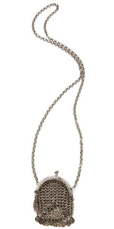 Chain Mail Bag Necklace