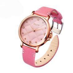 Women's Watches Waterproof with Bracelet JULIUS Horloges Women Quartz Wristwatches Fashion Casual Leather Pink Rhinestone Box Smart Watch, Quartz, Women's Watches, Wristwatches, Pink, Leather, Bracelet, Box, Casual