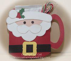 Santa Hot Chocolate mug ~ Catscrapbooking.com