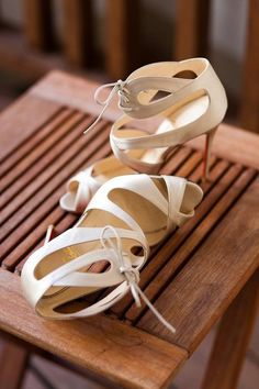 Christian Laboutin white cut-out shoes