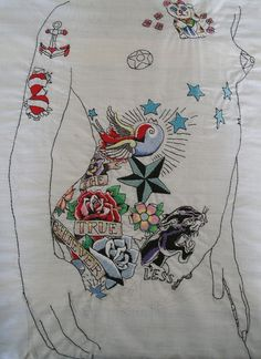 Tattoo embroidery. Peter Yarwood.