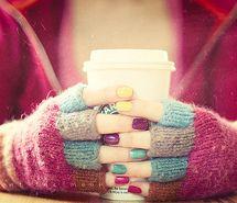 En invierno, un te caliente, una buena amiga y una hora por delante...