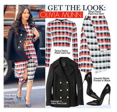 """Get The Look-Olivia Munn"" by kusja ❤ liked on Polyvore featuring Tanya Taylor, Balmain, Casadei, women's clothing, women's fashion, women, female, woman, misses and juniors"