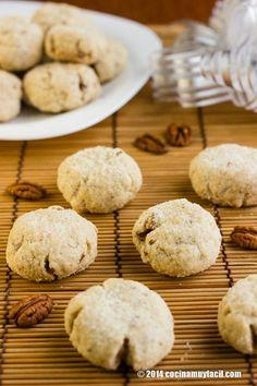 Polvorones de nuez. Receta | cocinamuyfacil.com