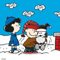 We Love Santa Snoopy  Merry Christmas from Charlie Brown Cafe Fan Club