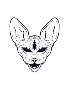 Dark Art Drawings, Art Drawings Sketches, Tattoo Sketches, Tattoo Drawings, Body Art Tattoos, Sphynx Cat Tattoo, Tattoo Flash Art, Tattoo Art, Cat Tattoo Designs