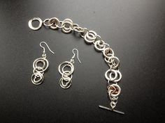 One of my favourites... Silver plated bracelet and earrings