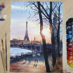 Watercolorist: @nina_petrovskaya  #waterblog #акварель #aquarelle #painting #drawing #art #artist #artwork #painting #illustration #watercolor #aquarela