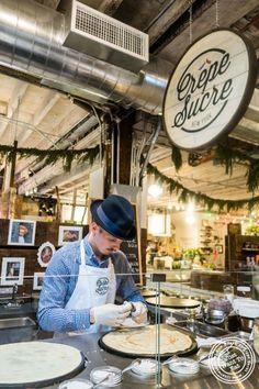 Crêpe sucre atThe Gansevoort Market in New York, NY