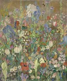 Artwork by Sir Cedric Morris who was a painter and plantsman; I've chosen Irises which he bred- no relation to William Morris, but a nice connection. Illustrations, Illustration Art, Guache, Aboriginal Art, Summer Flowers, Botanical Art, Art Inspo, Flower Art, Painting & Drawing