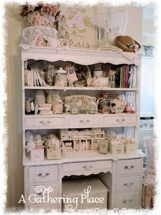 A Gathering of Thoughts... I have deck on chest (3 drawers) and the dresser that matches from my childhood. Possibilities are flowing through my brain!!!!
