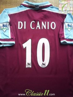 Relive Paolo Di Canio s Premier League season with this vintage Fila West  Ham home football shirt. 561e0f8d2