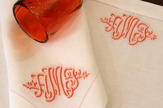 Leontine embroidered monogram