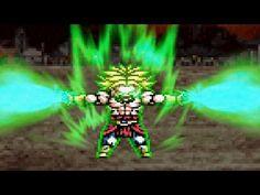 DragonBall Z - Goku & Vegeta vs Broly (Sprite Animation)
