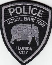 "FLORIDA CITY POLICE ""TACTICAL ENTRY TEAM"" SHOULDER PATCH FL"