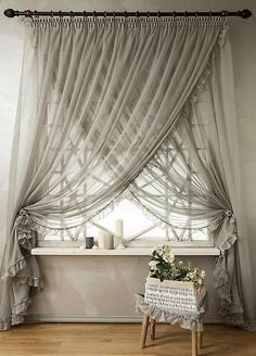 45 Modern Bedroom Curtain Designs Ideas - Home - Curtains Bedroom Drapes, Home Curtains, Bedroom Colors, Modern Curtains, Window Curtains, Bedroom Neutral, Bedroom Windows, Bedroom Ideas, Contemporary Curtains