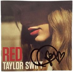 Featured is a Taylor Swift autographed Red album booklet. This item was hand-signed by Taylor Swift and comes with a PSA hologram and certificate of authenticity. Swift is known for narrative songs ab