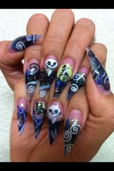 Nightmare before Christmas, Stiletto Nails by Terry...