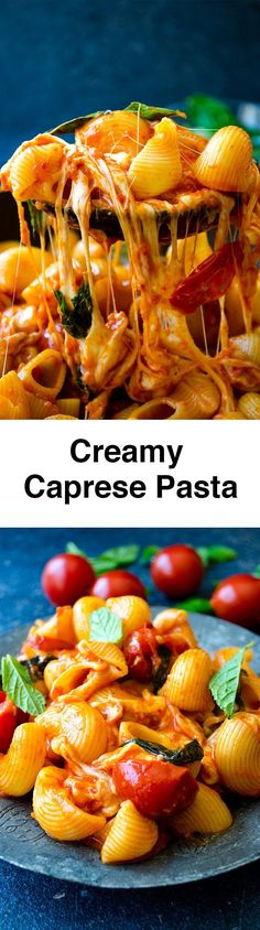 Creamy pasta loaded with tomato and cheese flavors. No cream is used in the recipe. Milk and cheese give the creaminess to the pasta.