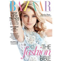 Jessica Stam Covers Harper's Bazaar Australia March 2012 in Louis... ❤ liked on Polyvore featuring magazine, magazine covers, covers, foto and jessica stam